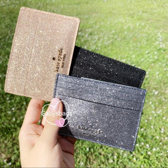 👜👛Kate Spade Card Holder Glitter